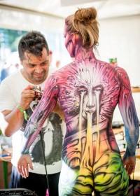 Airbrush Bodypainting Workshop for SLA Paris with Alex Hansen